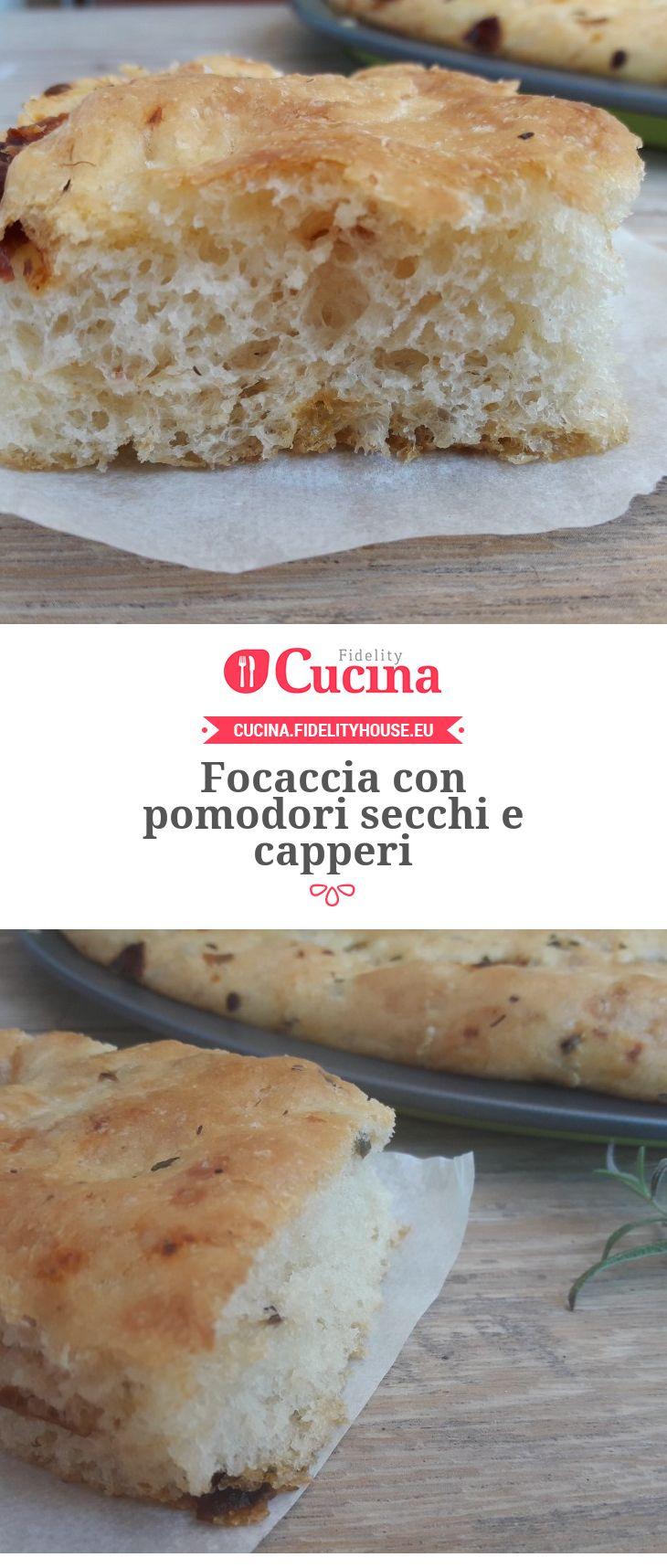 #Focaccia con #pomodori secchi e #capperi della nostra utente Vittoria. Unisciti alla nostra Community ed invia le tue ricette!