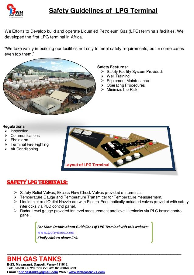 Safety guidelines of lpg terminal by BNH Gas Tanks via ...