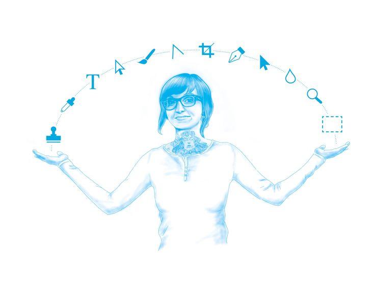 mo.GRAFIK ... Illustrationen für unsere neue Imagebroschüre. Selbstportraits mal anders :-)