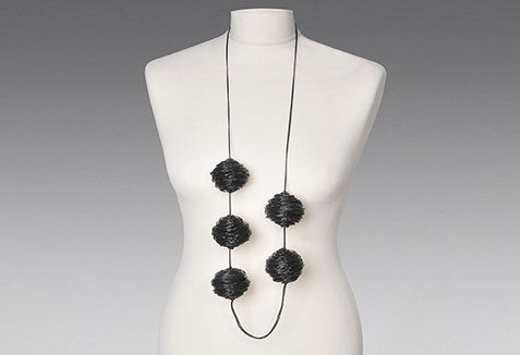 ''EMPTY BUBBLES'' necklace Handmade, silicone jewel by Petros Mantouvalos