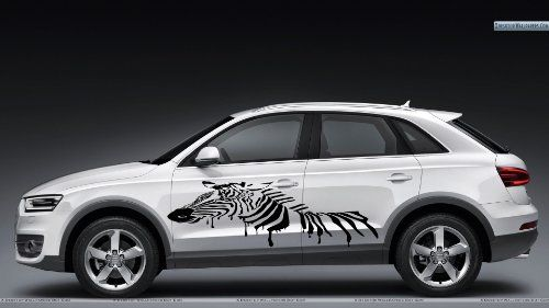 Auto car decals modern zebra animal for side decor removable stylish sticker unique design any vehicle