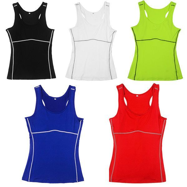 $5 Women Gym Sports Vest Running Top Yoga Girl Stretch Sleeveless Tee Shirt New MAV #Unbranded #Vests