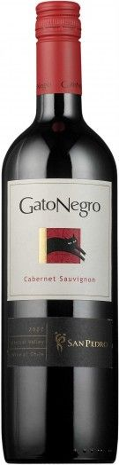 gato negro, redwine with red cap