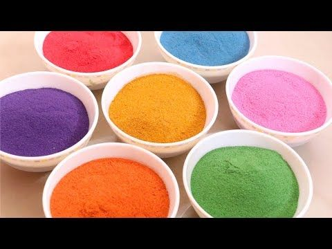 How to Make Rangoli Colours at Home | Rangoli Powder with Sand | Little Crafties - YouTube