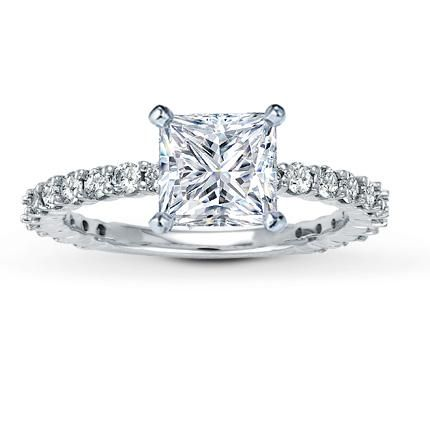 Leo 1.5 carat princess cut diamond with thin Leo diamond band- OMG i need this cuz im a leo lol