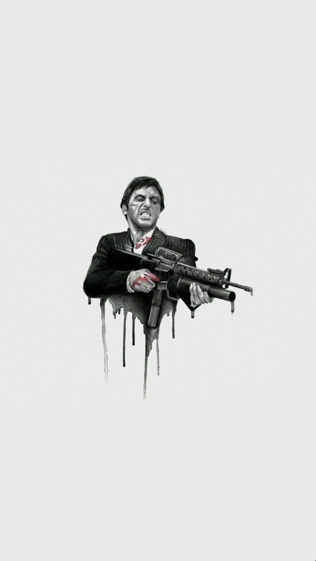 Tony Montana Wallpaper Scarface Poster Scarface Movie The Godfather Wallpaper