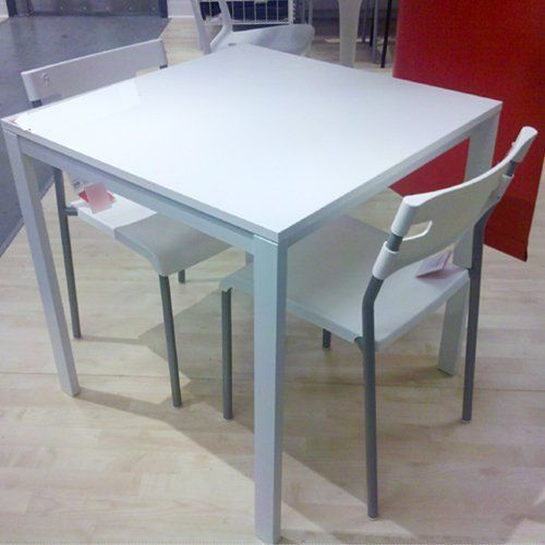 Ikea Table And 2 Chairs Set White Dining Kitchen Modern By