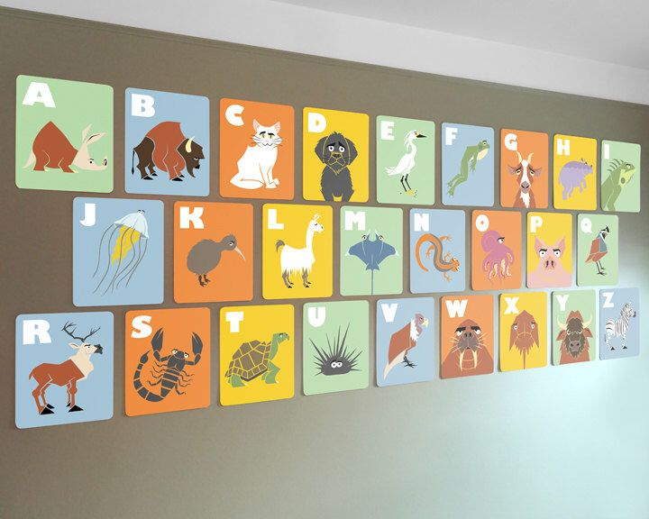 17 Best Ideas About Alphabet Wall Cards On Pinterest
