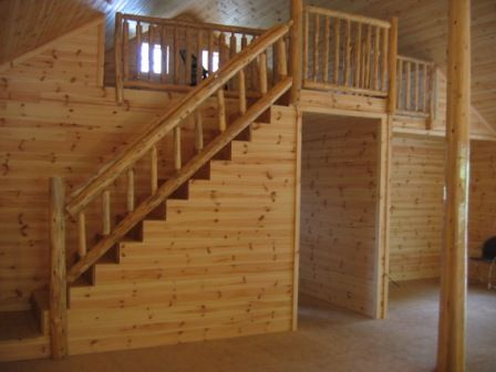 Best Log Railings Log Stair Railings To Match The Front 400 x 300