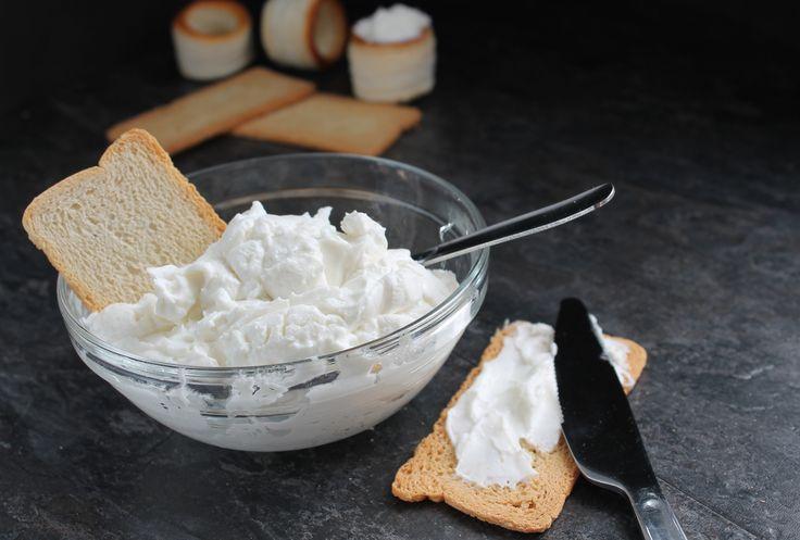 Queso crema (tipo Philadelphia) casero sin lactosa