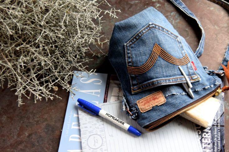 Lille jeans taske