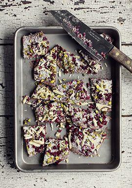 Croquants de yogourt aux fruits & au chocolat blanc