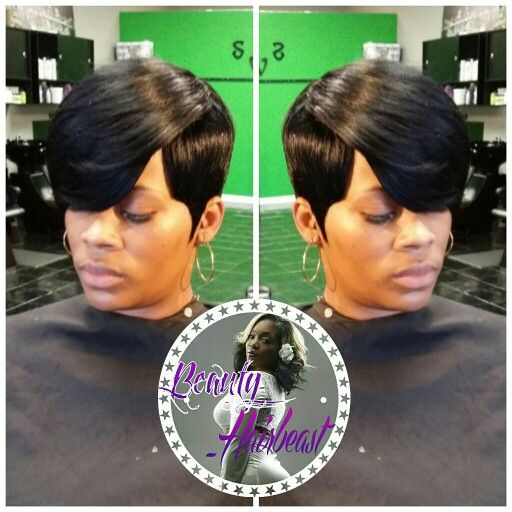 Short 27 Piece With Swoop Quickweaves Short Hair Styles Hair