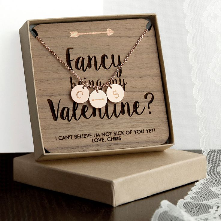 Personalised Will You Be My Valentine Necklace & Keepsake - Valentines Jewelry - 3 colours - Gift for her by KiddiClub on Etsy