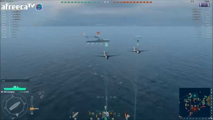 World of warships #32 CV user is in panic!
