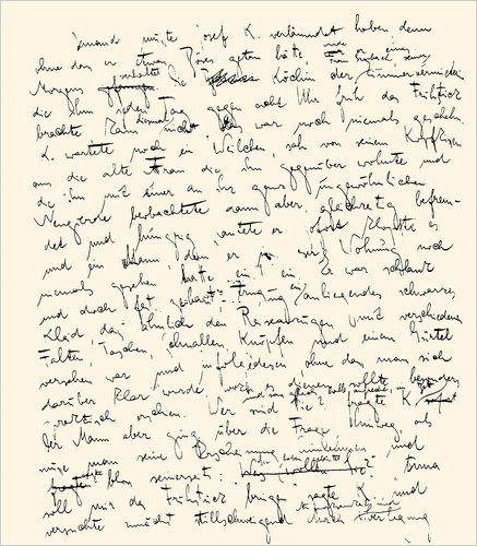 Manuscrito El Proceso de Kafka