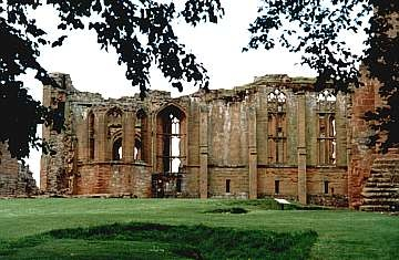 The remains of John of Gaunt's Great Hall, Kenilworth Castle. Henry VII's disputable right to the throne, coming from his maternal side, was descended from one of John of Gaunt's illegitimate children by his mistress, Katherine Swynford. Illegitimate children were almost always barred from the throne unless given legitimate status by the King.