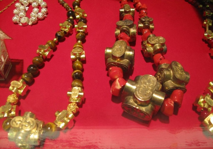 Traditional necklaces gold plated from Kotogadang, West Sumatera, Indonesia.