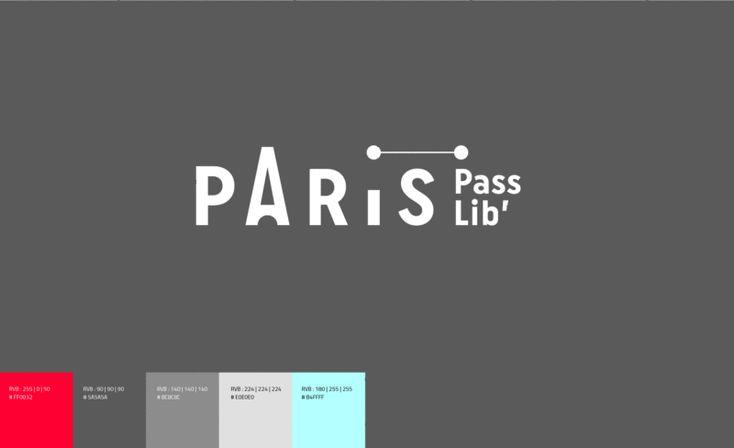 Charte graphique de l'Office de Tourisme de Paris, par Graphéine