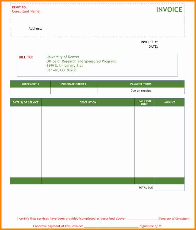 Consulting Invoice Template Word Unique 5 Consultant Bill Format In Word Invoice Template Word Invoice Template Freelance Invoice Template