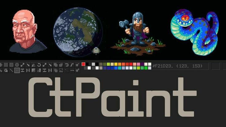 CtPaint, the simple paint software missing from the internet  by Chad 'Chadtech' Stearns  CtPaint is web-connected image editing software. Its perfect for pixel art. It can open, edit, and save any image on the web. Read more