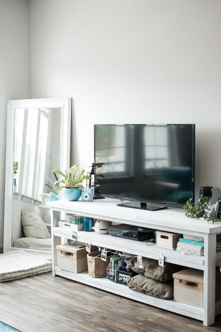 Boho Tropical Living Room TV Stand - Sweet Teal