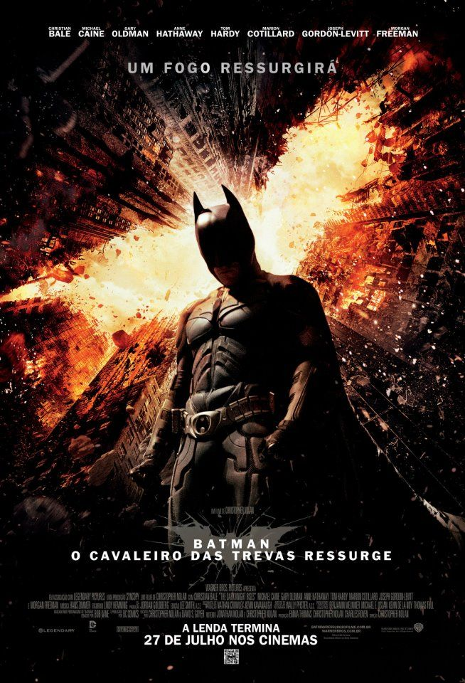 Um filme de Christopher Nolan com Christian Bale, Gary Oldman : Oito anos após a morte de Harvey Dent, a cidade de Gotham City está pacificada e não precisa mais do Batman. A situação faz com que Bruce Wayne (Christian Bale) se torne um homem recluso em sua mansão, convivendo apenas com o mordomo Alfred (Michael ...