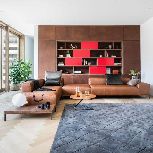 Canapé modulable / contemporain / en cuir / 2 places BUENAVISTA by Anita Schmidt DURLET