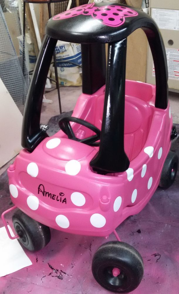 , The polka dots name and bow are vinyl decals ordered from Etsy