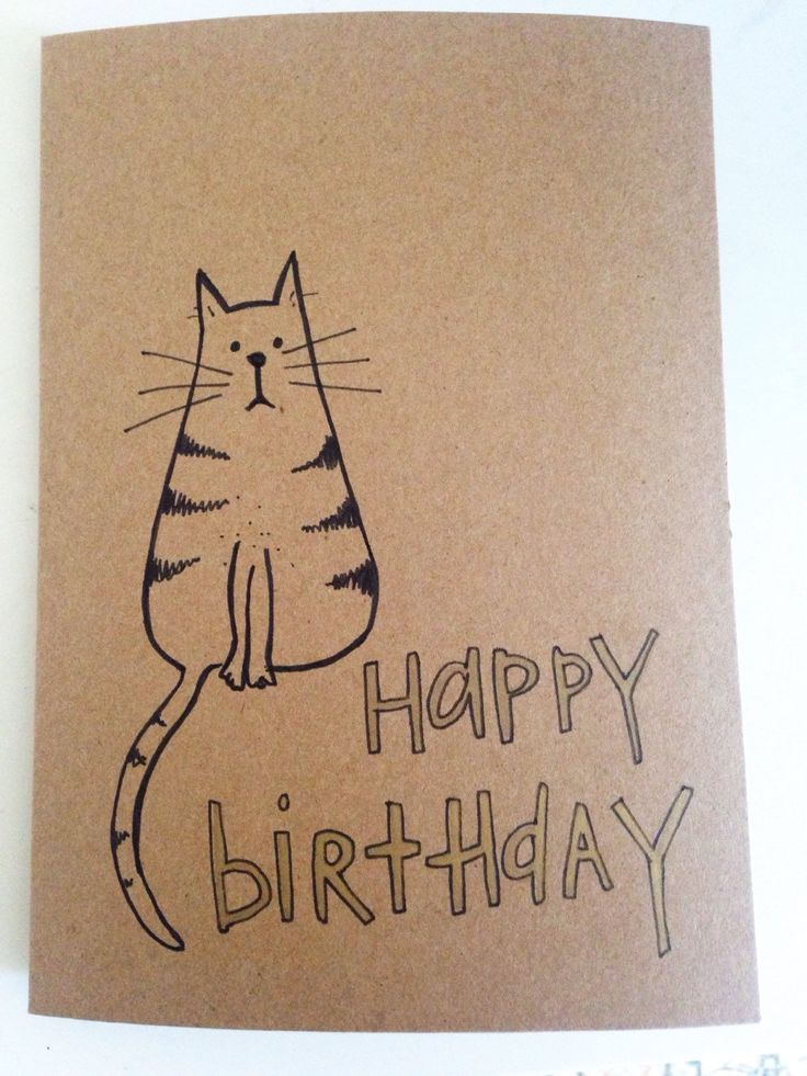 A personal favourite from my Etsy shop https://www.etsy.com/uk/listing/291456061/hand-drawn-tabby-cat-birthday-card
