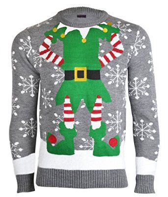 Noroze Mens Novelty Knitted Christmas Sweater Jumpers