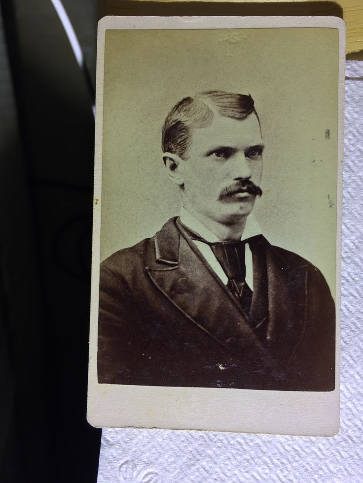 James Earp. Wyatts oldest full brother. Original image from the collection of P. W. Butler.