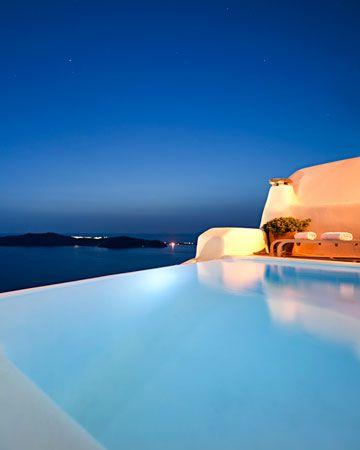 Kapari Natural Resort, Santorini, Greece - via @Martha Stewart Weddings Magazine