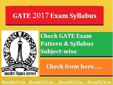 Download GATE 2017 Syllabus PDF for All Subjects AE, CE, IT, EE, ECE, IE and ME. You can also Check GATE Syllabus 2017 and Its Exam Pattern.