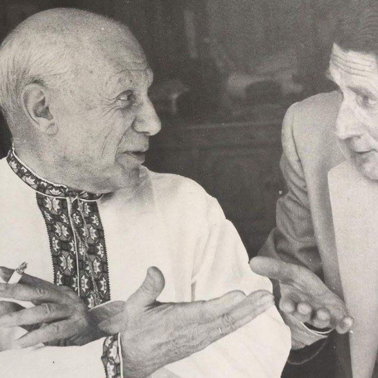 Pablo Picasso in ukrainian embroidery thanks to his ukrainian wife Olga Hohlova from Nizhyn ,from Iryna