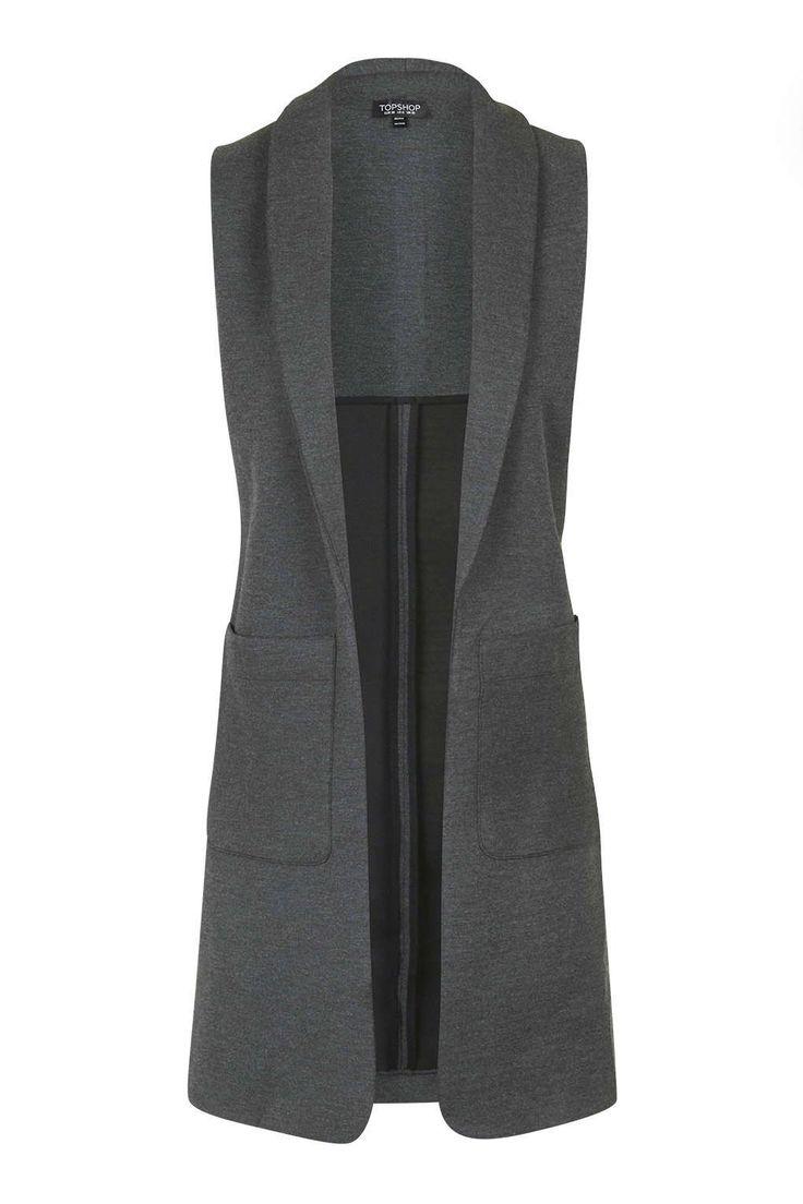 Photo 1 of Shawl Collar Sleeveless Jacket