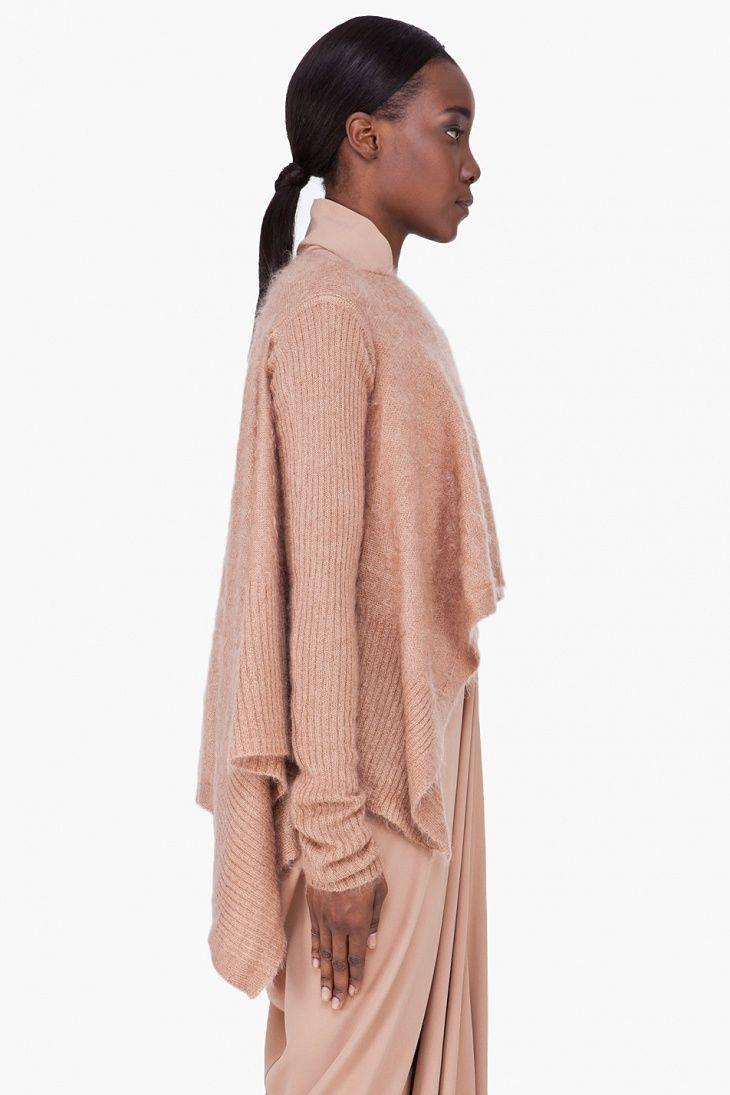 Пончо-свитер Rick Owens / Вязание / Своими руками - выкройки, переделка одежды, декор интерьера своими руками - от ВТОРАЯ УЛИЦА