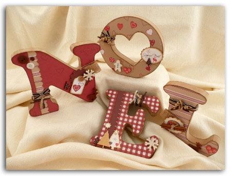 letras alteradas navidad / christmas altered letters