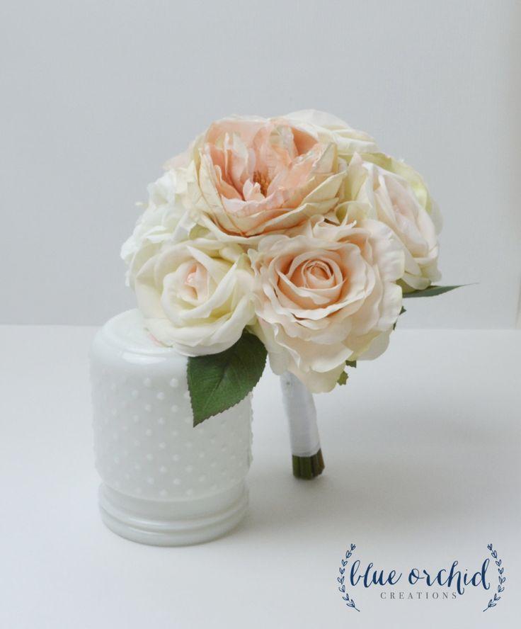 Bridesmaid Bouquet, Blush Bouquet, Rose Bouquet, Bridesmaid, Petite Bouquet…