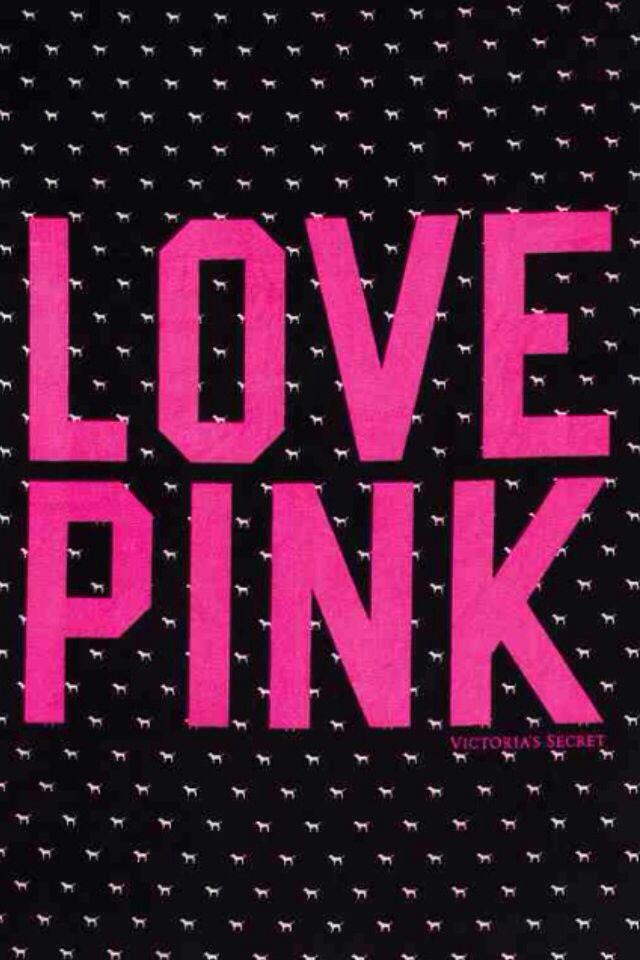 Love Pink Wallpaper Qt Wallpapars Pinterest Victoria Secret And