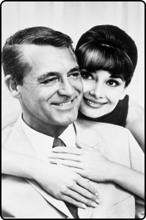 Audrey Hepburn and Cary Grant - Charade is one of our favorites and so are they. <3