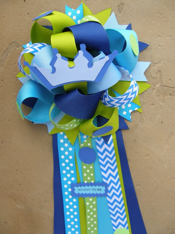 prince baby shower mumbaby shower corsagecorsageprince by bonbow, $19.99