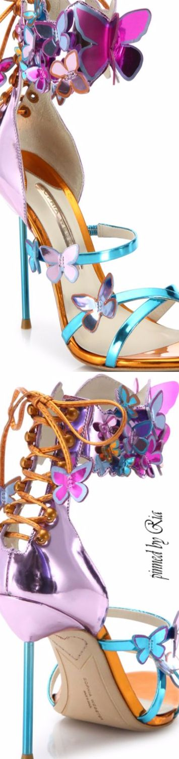 Sophia Webster Harmony Metallic Leather Butterfly Sandal l Ria