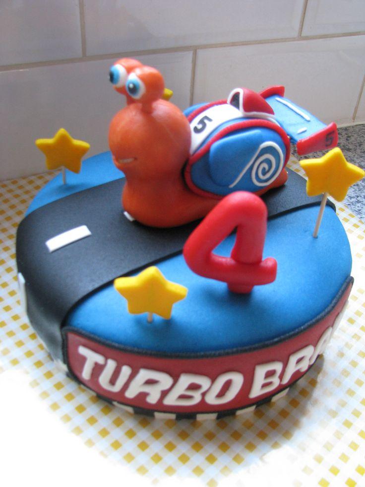 Taart met turbo van de gelijknamige film Turbo!