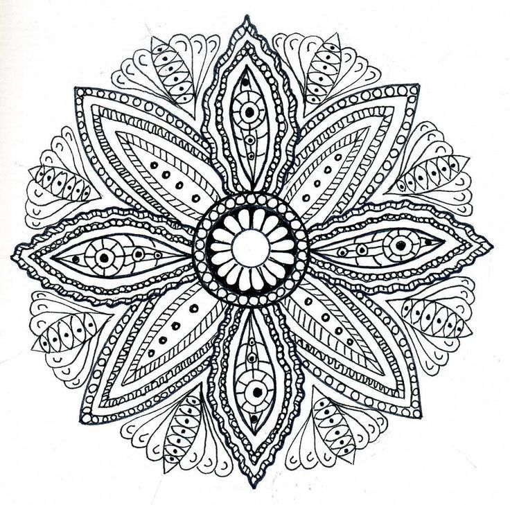 21 best Coloring Pages for Grown Ups - Mandalas images on Pinterest - new difficult pattern coloring pages