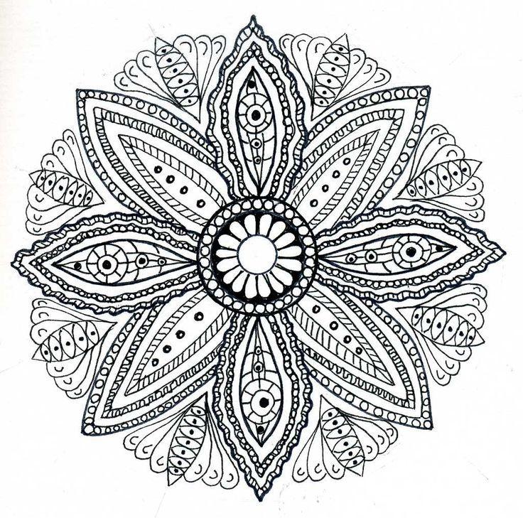 Dessin de mandala pour adulte colorier livros para colorir pinterest coloring mandala - Mandala adulte ...