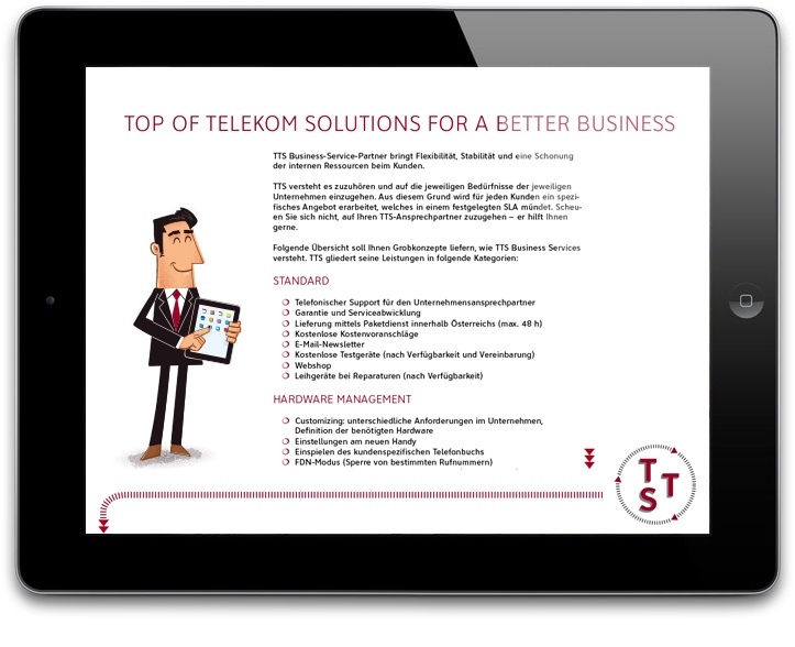 Illustration for Top Telekom Service by Daniel Spreitzer