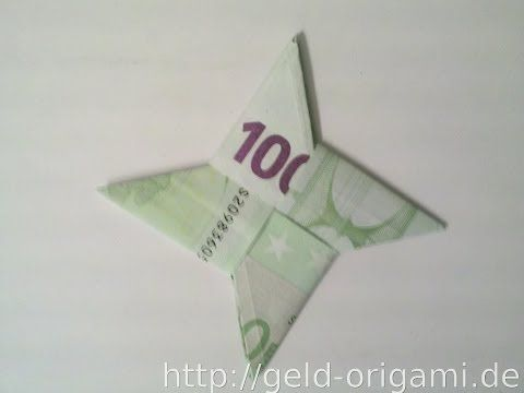 Stern aus zwei Geldscheinen falten - Stern mit Origami - Geldgeschenk - YouTube