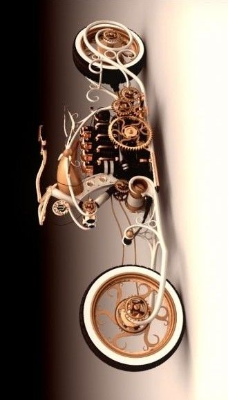 (Steampunk Motorcycle)