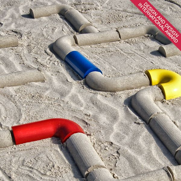 """#Beach #Toys for #kids by Carlos Ribau, via Behance - love the ability to make paths of """"tunnels"""" in the sand"""